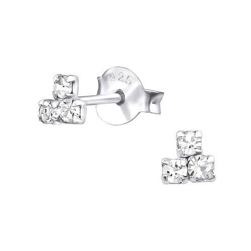 Crystal Trinity Earrings