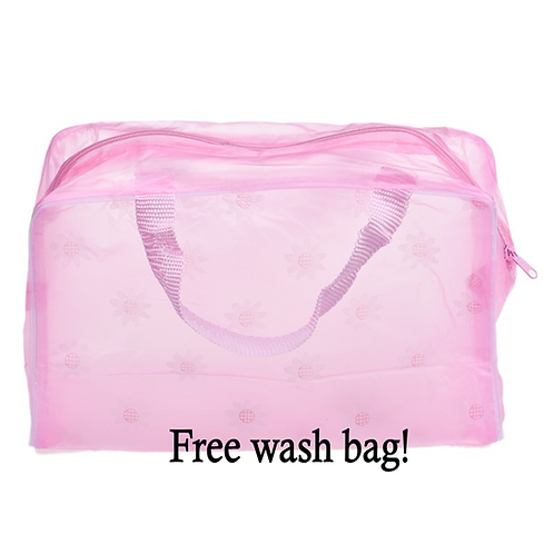 Clear Ladies Tote Bag (With Free Wash Bag)