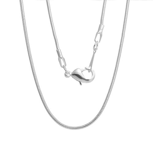 Silver Necklace Snake Chain