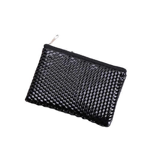 Grooved Coin Purse (Black)