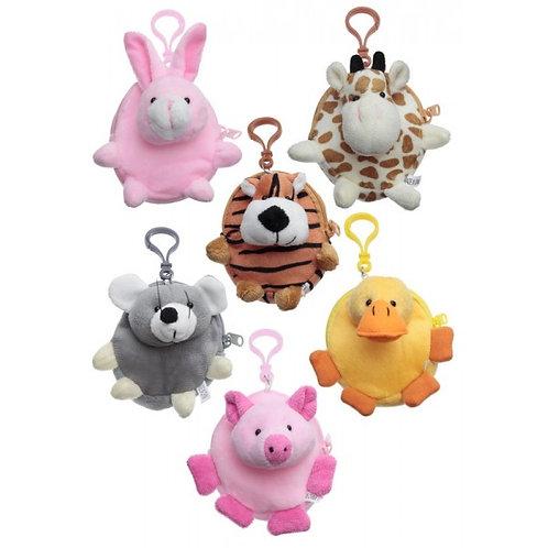Children's Cuddly Animal Purse (Various Designs)