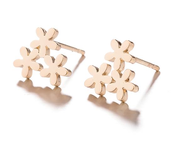 Trio of Flowers Earrings