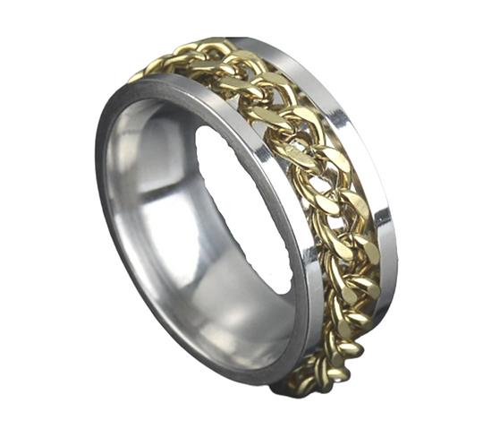 Men's Golden Chain Ring (Various Sizes)