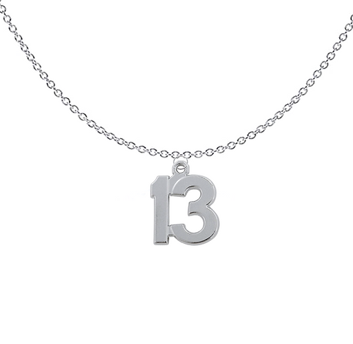 Number 13 Necklace
