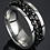 Thumbnail: Men's Black Chain Ring (Various Sizes)