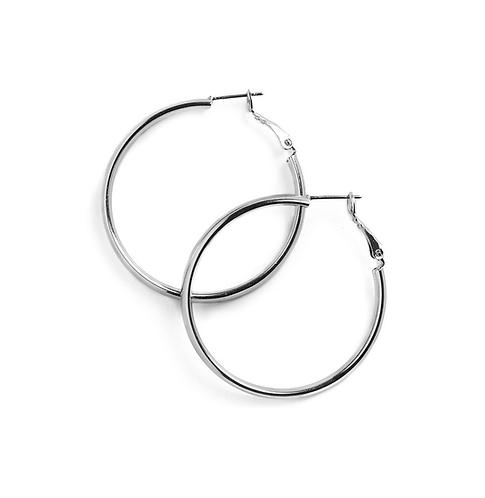 Silver Simplicity Hoop Earrings (Various Sizes)