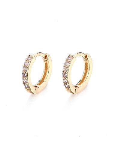 Golden Crystals Sleeper Earrings