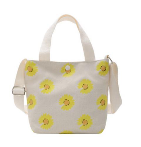 Yellow Daisy Canvas Bag