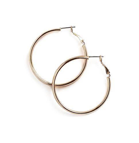 Golden Simplicity Hoop Earrings (Various Sizes)