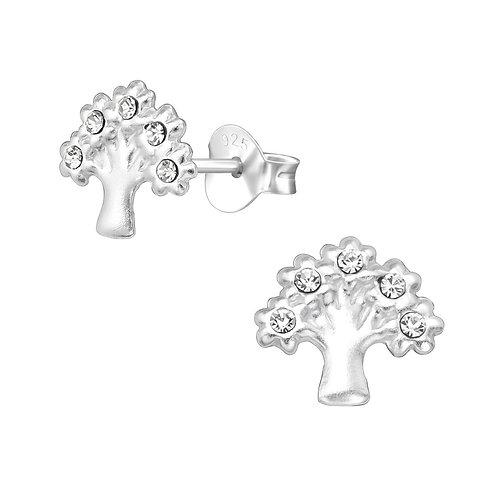 Tree of Life Crystal Earrings