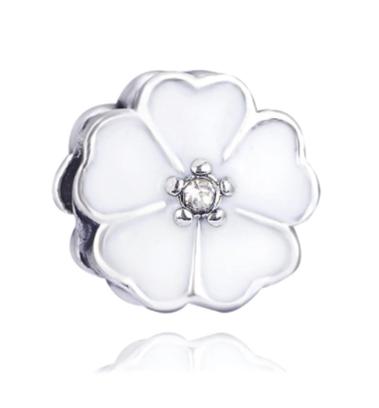 White Flower Charm