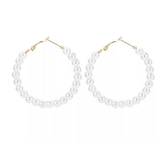 Pearly Sleeper Earrings