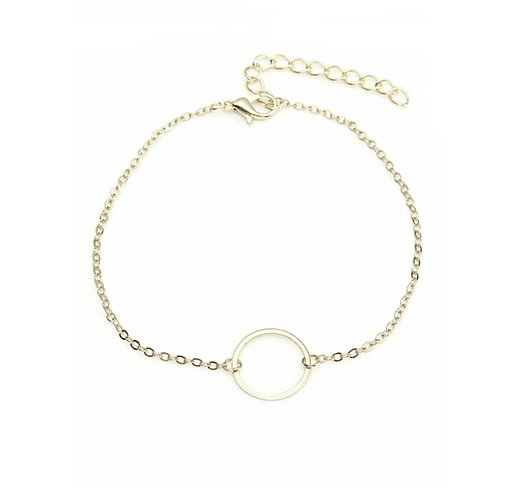 Golden Circle of Life Anklet