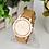 Thumbnail: Golden Numerals Ladies Watch (Brown)