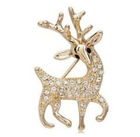 Golden Reindeer Brooch