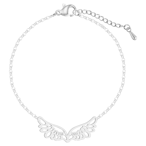 Wings of Hope Bracelet (Silver)
