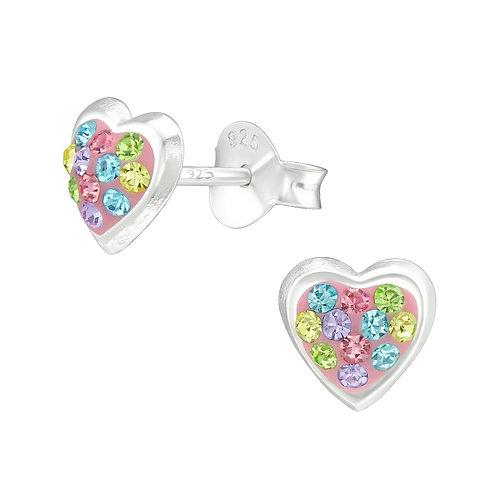 Sunset Heart Earrings