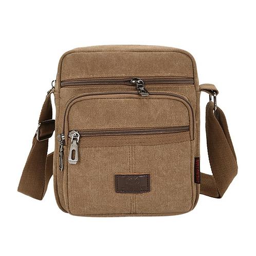 Casual Canvas Messenger Bag (Coffee)