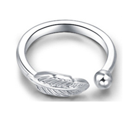 Silver Leaf Toe Ring