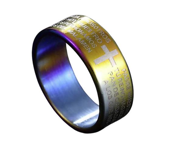 Men's Spanish Lord's Prayer Ring (Various Sizes)