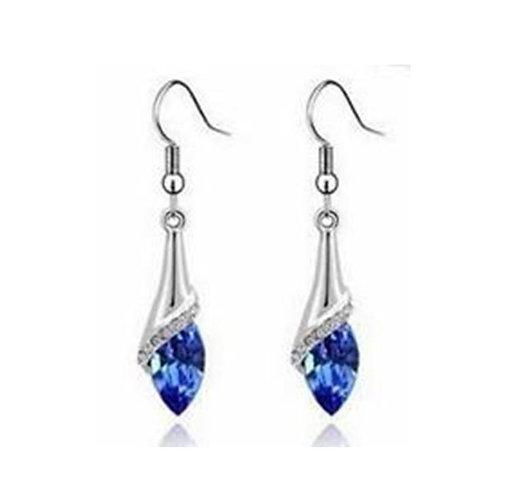 Angel Tear Drop Royal Blue Earrings
