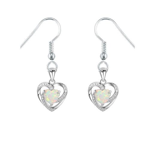 Opal Hearts Earrings