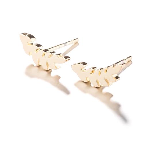 Golden Angel Feather Earrings