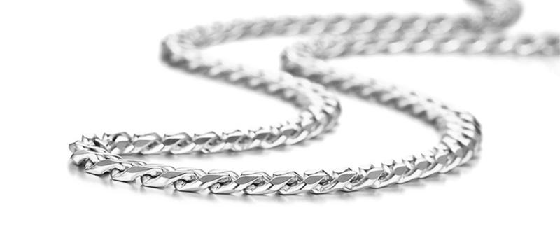 3mm Mens Cuban Link Chain Necklace (50cm)