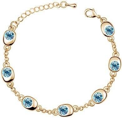 Golden Ocean Crystal Bracelet