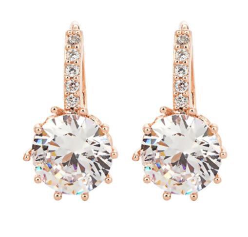 Crystal Jewell Sleeper Earrings