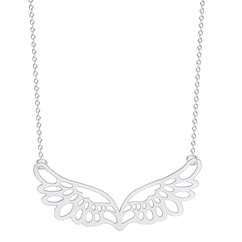 Wings of Hope Necklace (Silver)