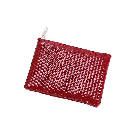Grooved Coin Purse (Red)