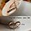 Thumbnail: Golden Crystal Wishbone Ring