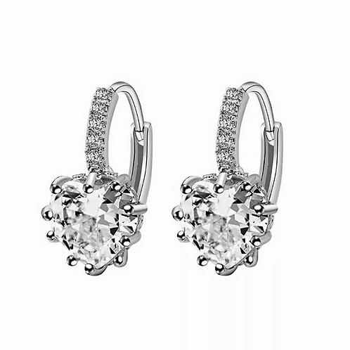 Heart's Jewel Sleeper Earrings
