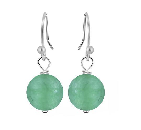 Emerald Bead Earrings