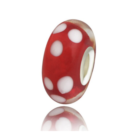 Red Spotty Bead Charm