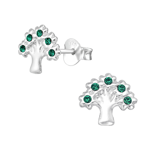 Tree of Life Emerald Earrings