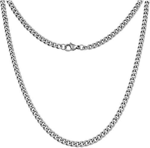 4mm Mens Curb Chain (55cm)