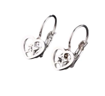 Star Heart Clip on Earrings
