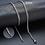 Thumbnail: 3mm Mens Cuban Link Chain Necklace (50cm)