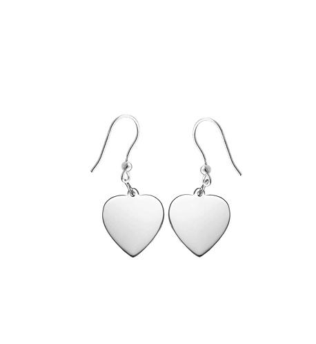 Solid Heart Dangle Earrings