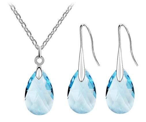 Water Drop Necklace & Earring Set