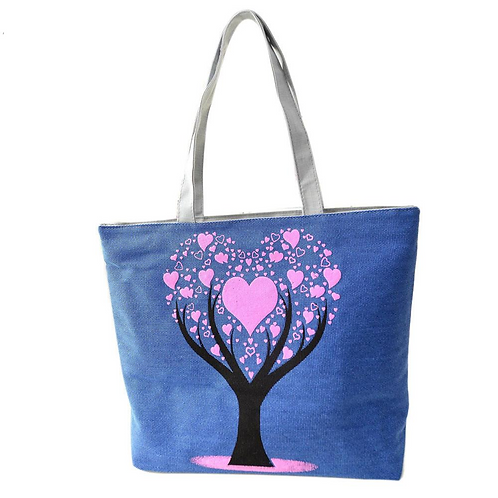 Tree of Love Tote Bag (Blue)
