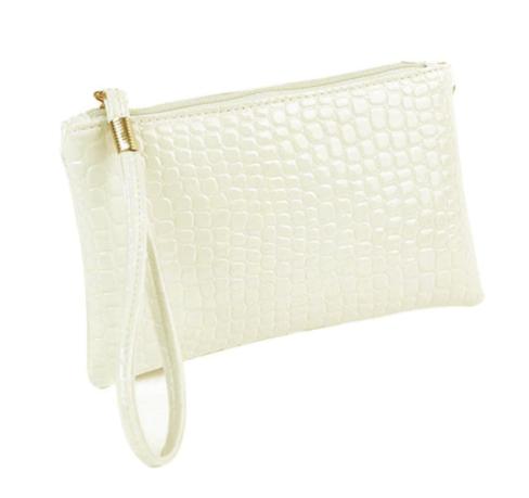 copy of Ladies Crocodile Cosmetic Bag (Ivory)