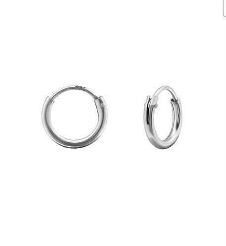 Silver Micro Sleeper Earrings