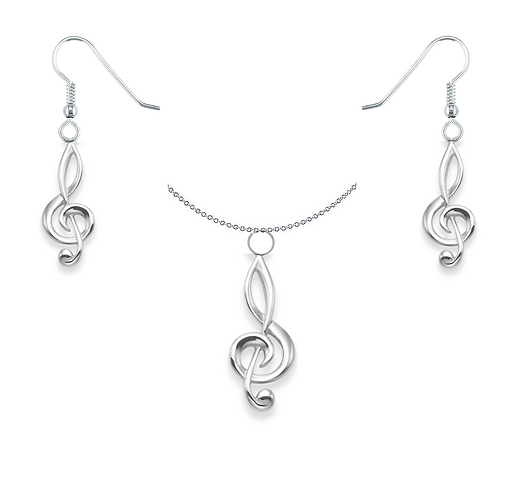 Melody of the Heart Necklace & Earring Set