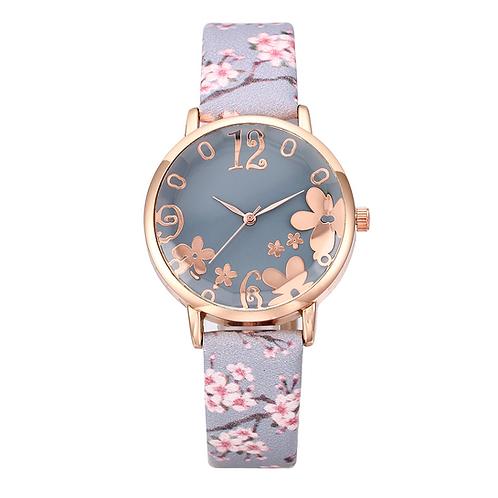 Cherry Blossom Ladies Watch (Grey)