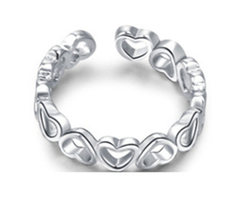 Linked Hearts Toe Ring