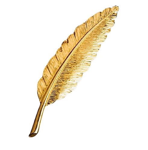 Golden Feather Brooch
