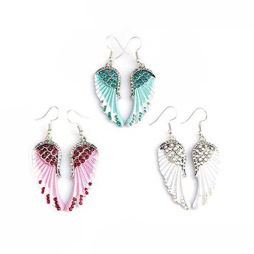 Angel Crystal Drop Earrings
